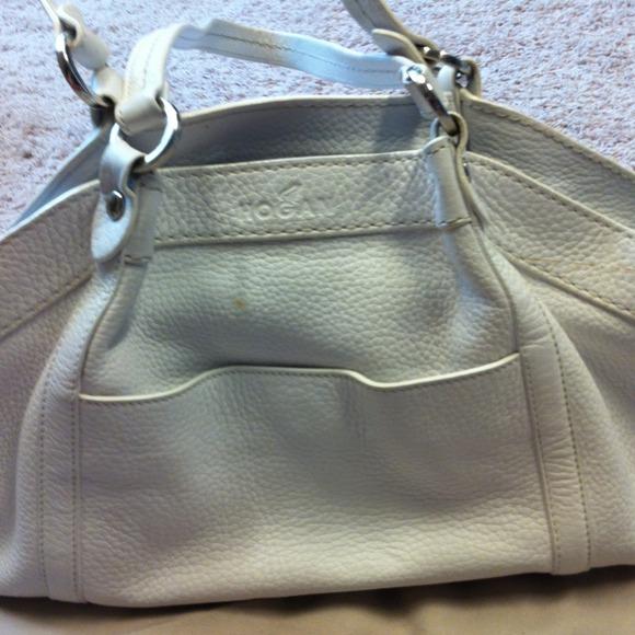6357baf2c1 Hogan Handbags - Authentic Hogan white leather shopper purse!