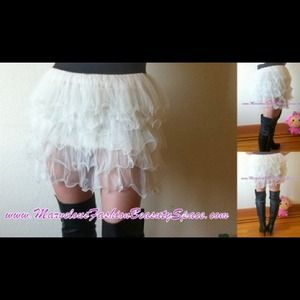 Mini skirt chiffon layers(多層雪紡裙)