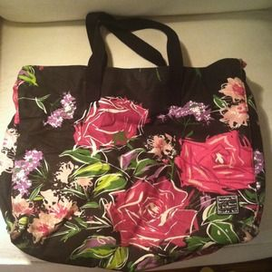 Large Nicole miller overnight tote bag