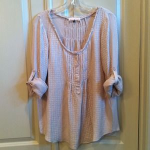 Rebeca Taylor Pink textured blouse