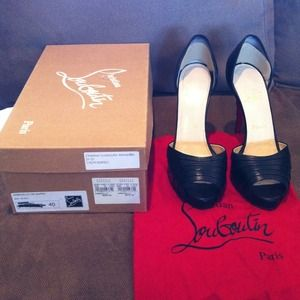 Christian Louboutin Shoes - Last call!!open toed Christian Louboutin Armadillo