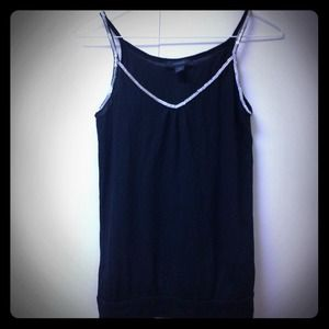 Express Tops - Black Sparkle Tank Blouse