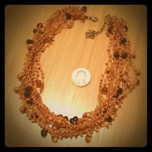 SOLD in separate bundle: Beaded peach necklace