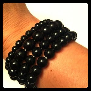 Jewelry - Black beaded bracelets