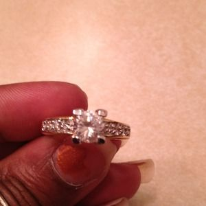Jewelry - REDUCED Really cute gold tone ring w/silver lining