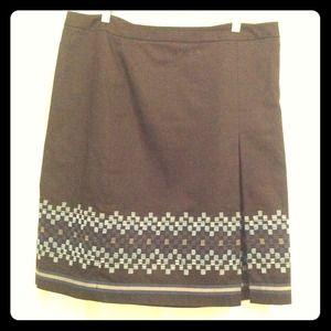 BUNDLED: LOFT black skirt w/ geometric detailing