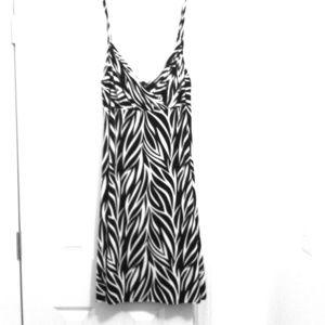 BUNDLED: Zebra-like black & white dress