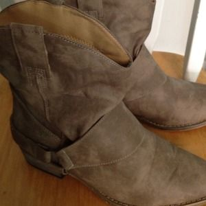 Forever 21 booties in taupe.