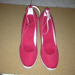 Nine West Shoes - Red Espadrille