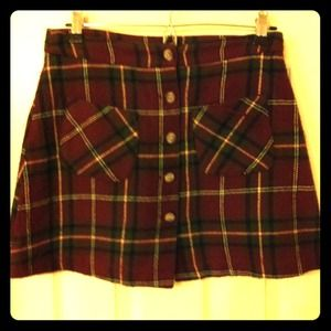 Dresses & Skirts - Plaid Mini sz 3