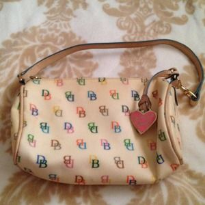 Dooney & Burke Handbags - Reserved @chani Cream multi colored D&B purse