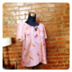 Tops - HALF OFF SALE | Vintage✨Pink BUTTERFLY Sleeve Top