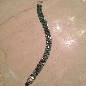 Jewelry - REDUCED New Jade & Sterling Silver Bracelet