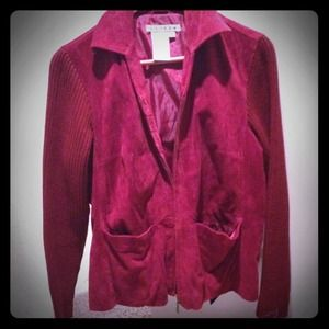 Jackets & Blazers - Red suede jacket