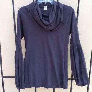 Tops - kTd purplish gray puff sleeve cowl neck