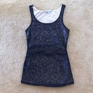 Tops - Black lace tank