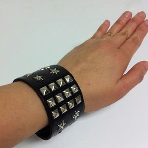 Jewelry - Faux Leather Studded Cuff
