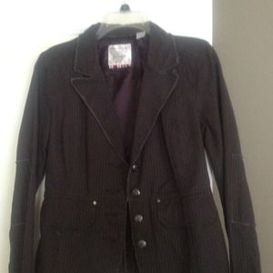 Jackets & Blazers - Black pinned strip blazer