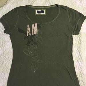 American Eagle olive green T-shirt