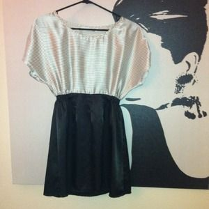 MINKPINK Dresses & Skirts - Black and white striped short dress