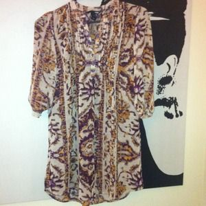 H&M Dresses & Skirts - SOLD @chelsea19 Tribal Sheer Tunic