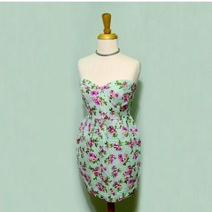 Floral Mint Dress/F21 Tube Dress