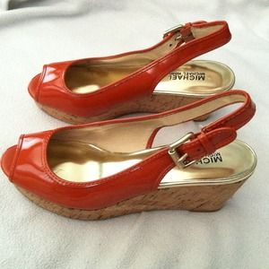 Michael Kors Shoes - Michael Kors orange pumps