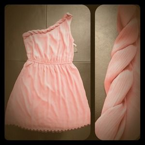 Dresses & Skirts - 💢RESERVED💢 NWT! Blush Colored One Shoulder Dress