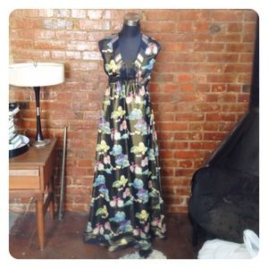 ✂REDUCED✂ CYNTHIA ROWLEY Cactus Maxi Dress