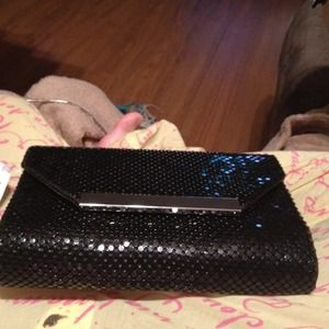 Brand new with tags sequin clutch. Reduced $4.
