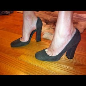 Halston Shoes - Halston D'Orsay suede pumps
