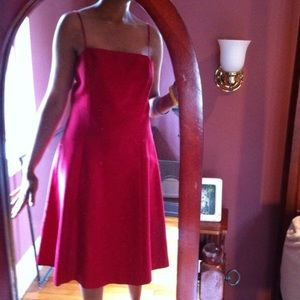 red Ann Taylor spaghetti strap dress