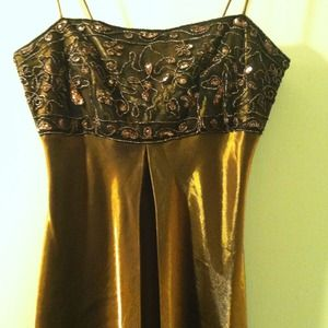 Embellished Copper Dress
