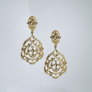 Gold Sparkle Fancy Earrings