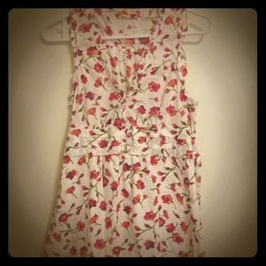 Forever 21 Dresses & Skirts - Pink Floral tank shift A Line shirtdress