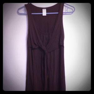 Dresses & Skirts - Brown pleated shift tank dress.