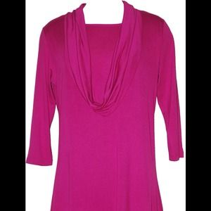 inside out Tops - Samantha cowl neck tunic in pink