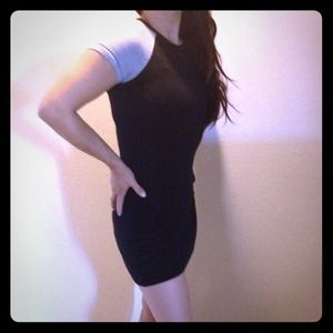 Gap black and gray sexy mini club shirtdress