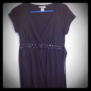 Dresses & Skirts - Black embellished A Line dress - LBD