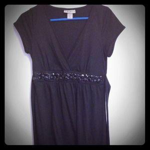 Black embellished A Line dress - LBD