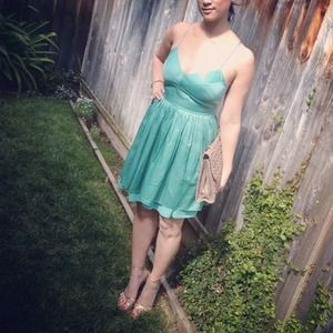 Dresses - Seafoam green cocktail dress 1