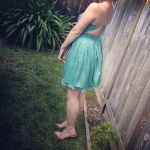 Dresses - Seafoam green cocktail dress