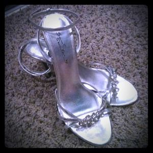 Shoes - Reduced! Sweet Sensations silver sparkle shoes