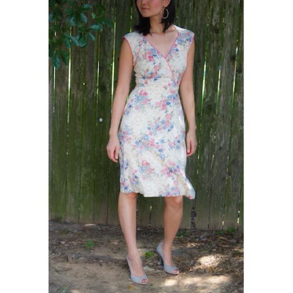 Dresses & Skirts - SOLD! Vintage floral, low back dress