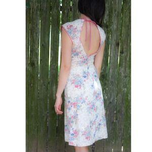 Dresses - SOLD! Vintage floral, low back dress