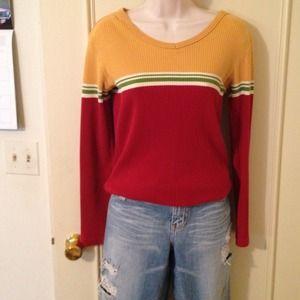 Sz sm Abercrombie, striped long sleeve shirt