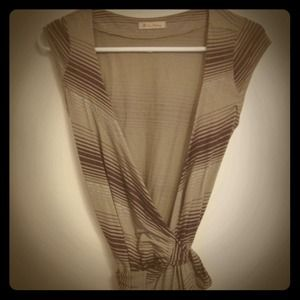 Dresses & Skirts - Wrap around striped dress
