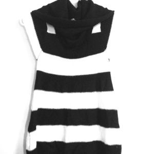 Tops - Black and white Striped cowl neck shirt.