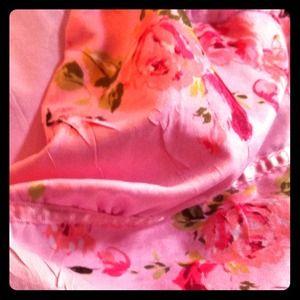 cute pink flowered short-sleeved top