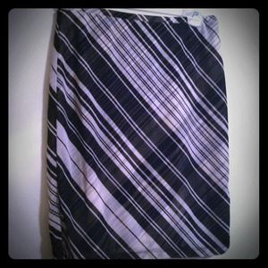 Express Dresses & Skirts - Reduced! Express black and white striped skirt